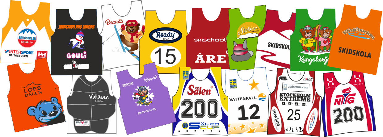 Alpine race bibs